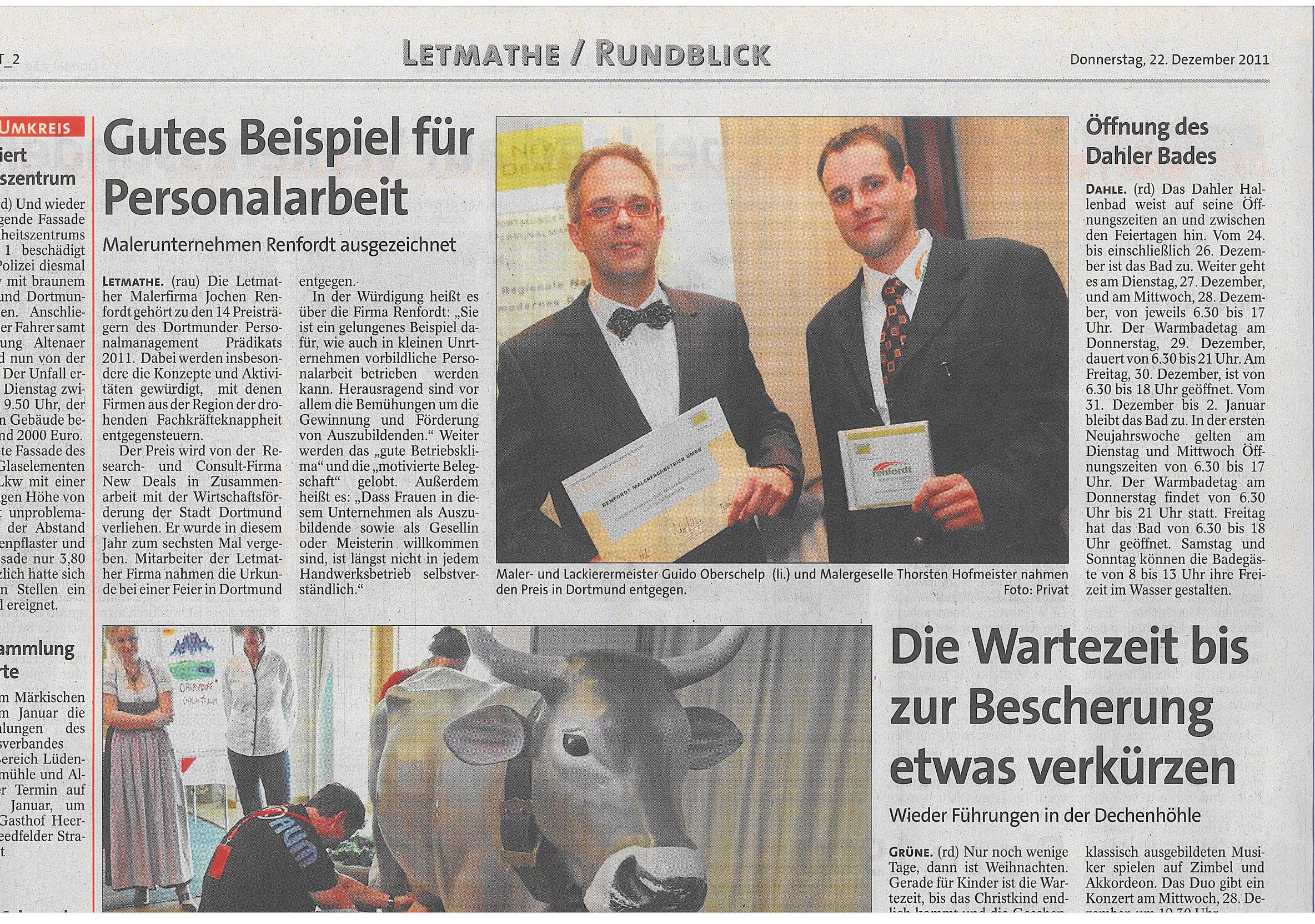 11.12.22 IKZ Personalprädikat renfordt Malerfachbetrieb GmbH