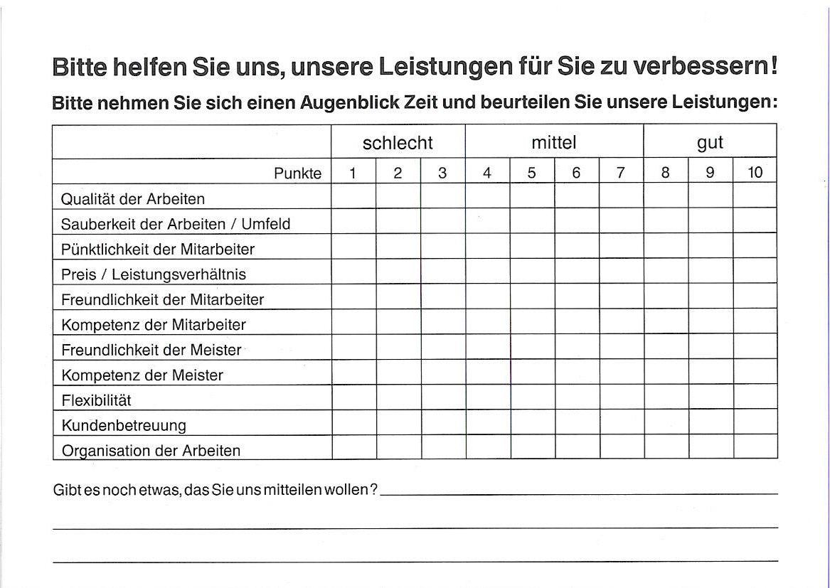 Kundenbefragung renfordt Malerfachbetrieb GmbH
