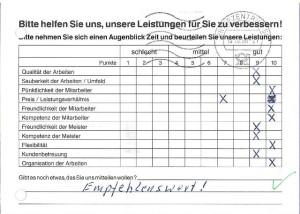 Eheleute E.+I. P. aus Hagen - Kundenmeinungen