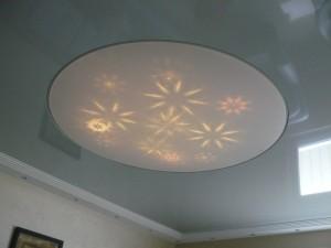 Lichtdecke mit Swarovski Reflektionen