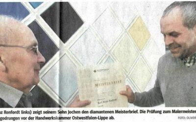 Dritte Meisterehrung für Karl Heinz Renfordt